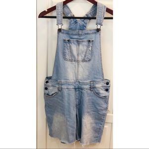 Mossimo Denim Overalls Shortalls Light Wash S